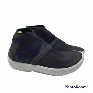 OOFOS OOMG Navy High Sneaker Shoes Sz 8.5 W